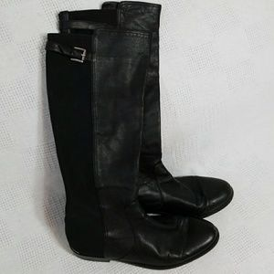 Coach Lilac Black Leather Riding Boots 9B